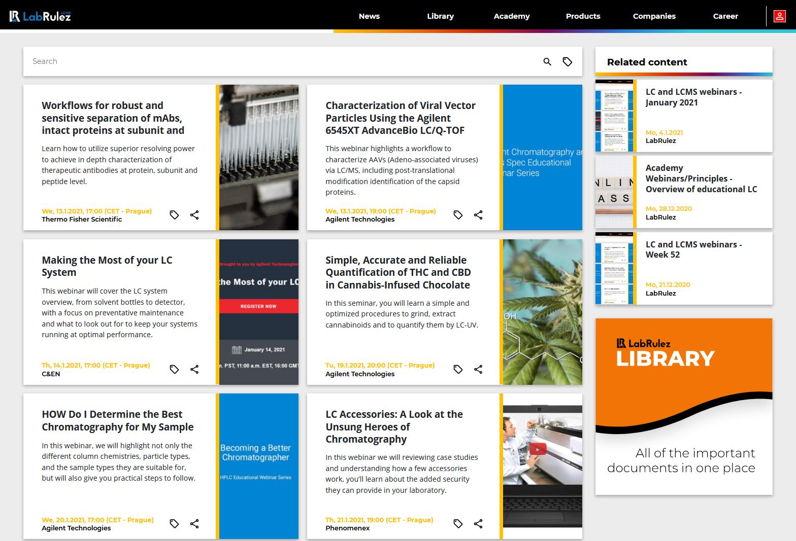 LabRulez: LC and LCMS webinars - January 2021 (2)
