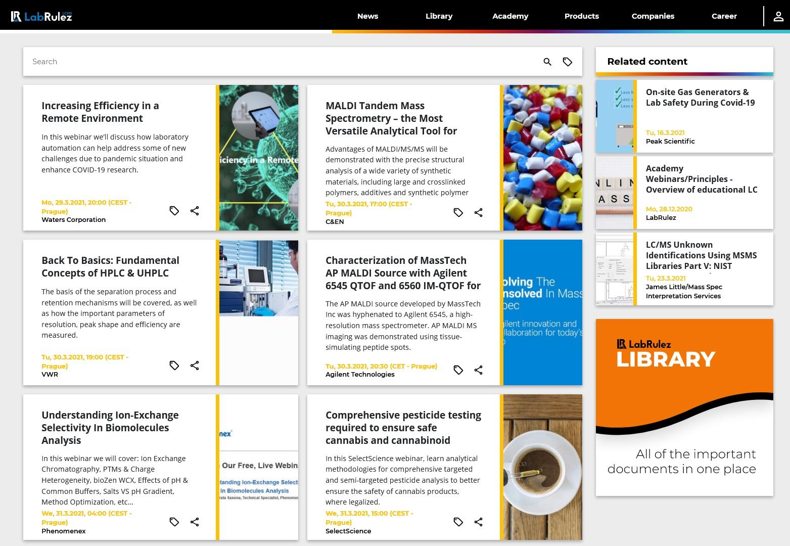 LabRulez: LC and LCMS webinars - Week 13