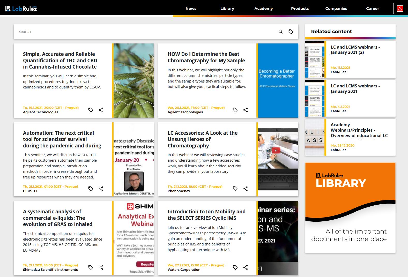 LabRulez: LC and LCMS webinars - Week 3