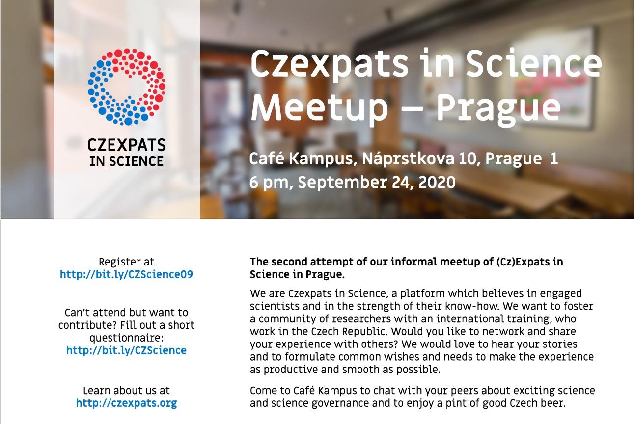 Czexpats in Science: Pozvánka: (Cz)Expats in Science Meetup - Prague