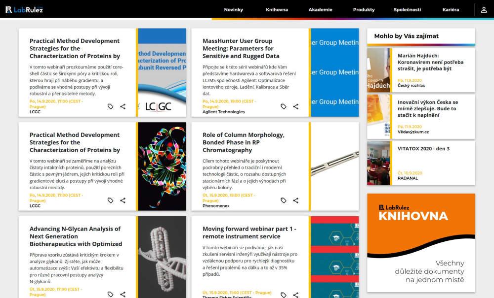 LC a LCMS webináře - 38. týden