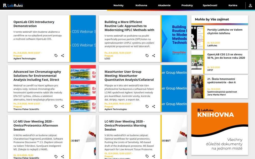 LC a LCMS webináře - 39. týden