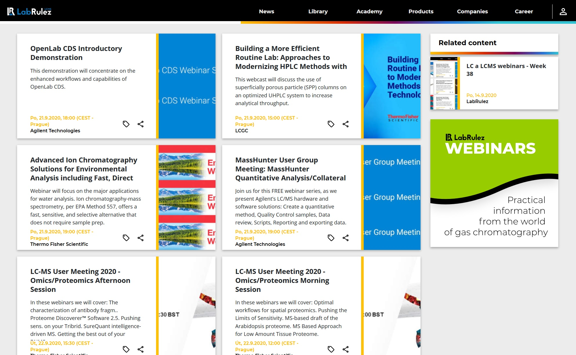 LabRulez: LC a LCMS webinars - Week 39