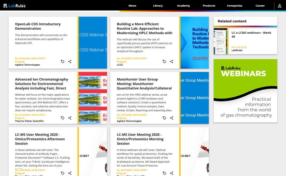 LC and LCMS webinars - Week 39