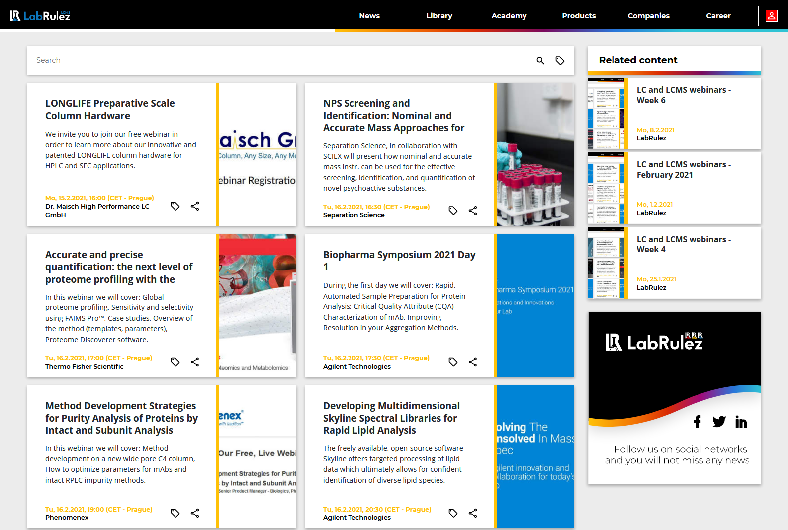 LabRulez: LC and LCMS webinars - Week 7