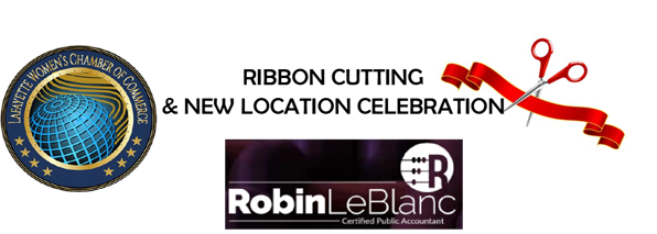 Robin LeBlanc Ribbon Cutting 7-30-21 header graphic for calendar and facebook