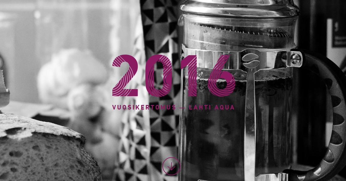 Vuoden 2016 vuosikertomus on julkaistu - Lahti Aqua