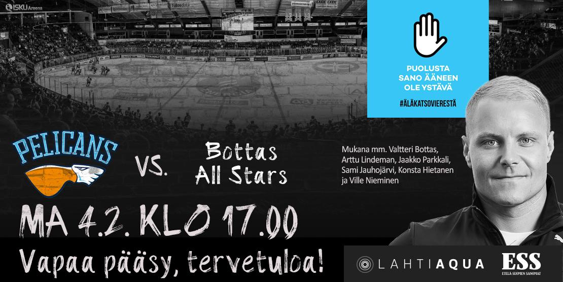 Hyvän mielen jääkiekko-ottelu kiusaamista vastaan - Lahti Aqua