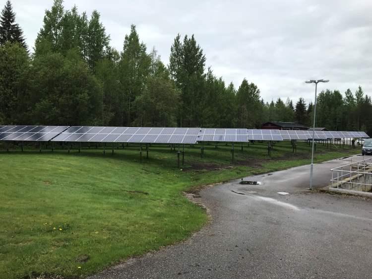 Aurinkovoimalaitos säästää energiaa Nastolan puhdistamolla - Lahti Aqua