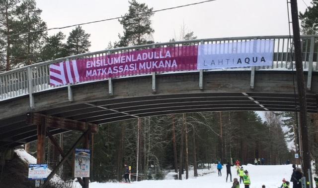 Lahti Aqua mukana tukemassa ensilumenladun avaamista - Lahti Aqua