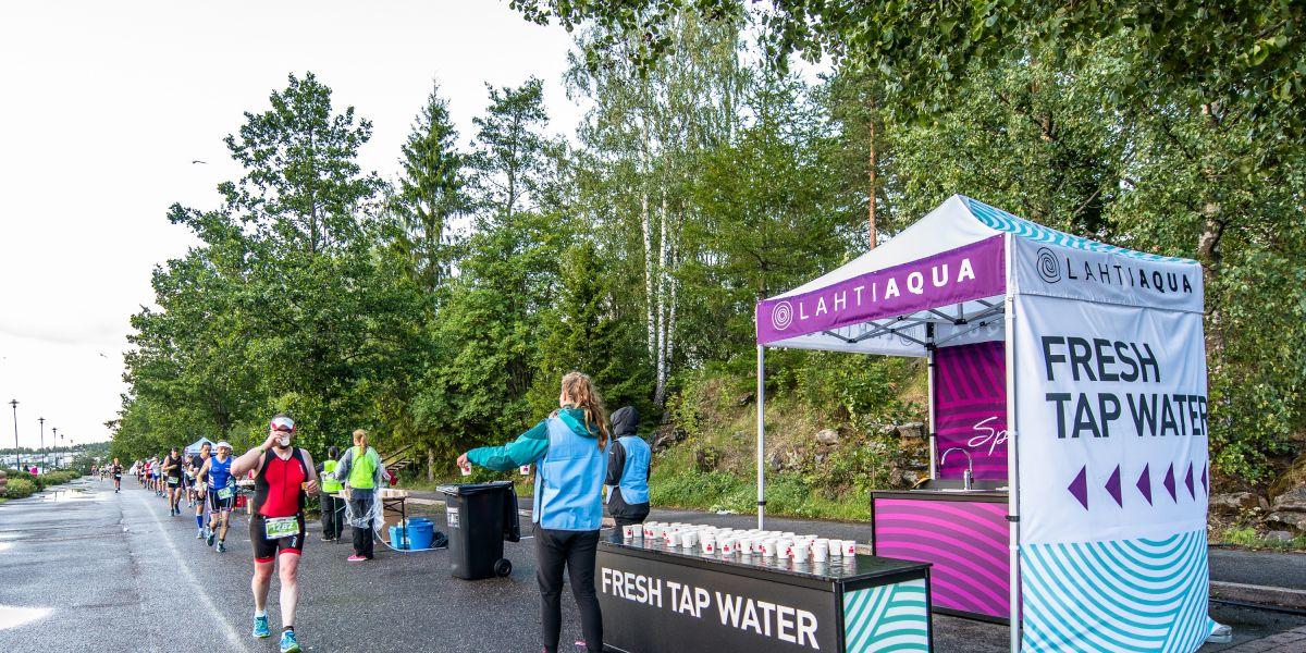 Lahti Aqua tarjoaa raikasta hanavettä IRONMAN 70.3 -kilpailijoille - Lahti Aqua