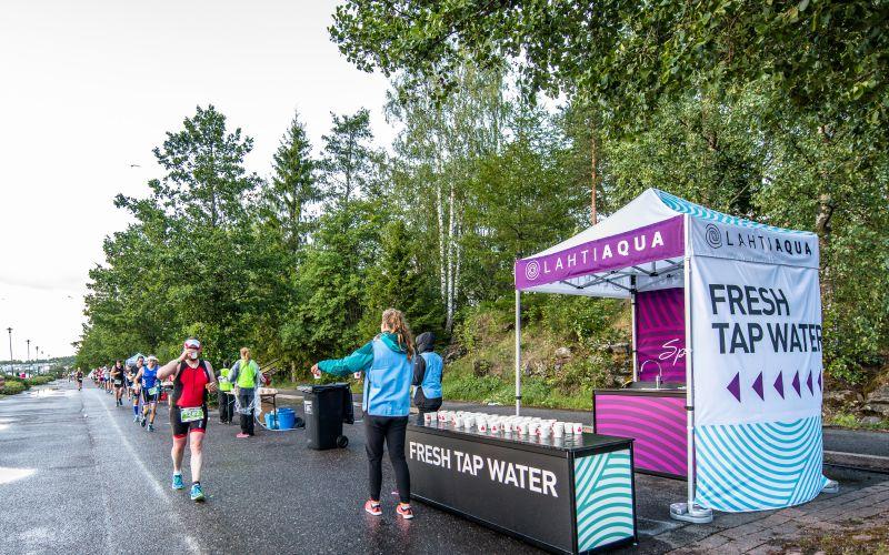 Lahti Aqua tarjoaa raikasta hanavettä IRONMAN 70.3 -kilpailijoille
