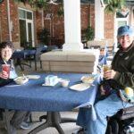 Senior couple enjoying lunch at Earth Day Celebration Lakewood Senior Living