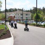 Lakewood Senior Living residents riding on Segway courtesy of RVA on Wheels.