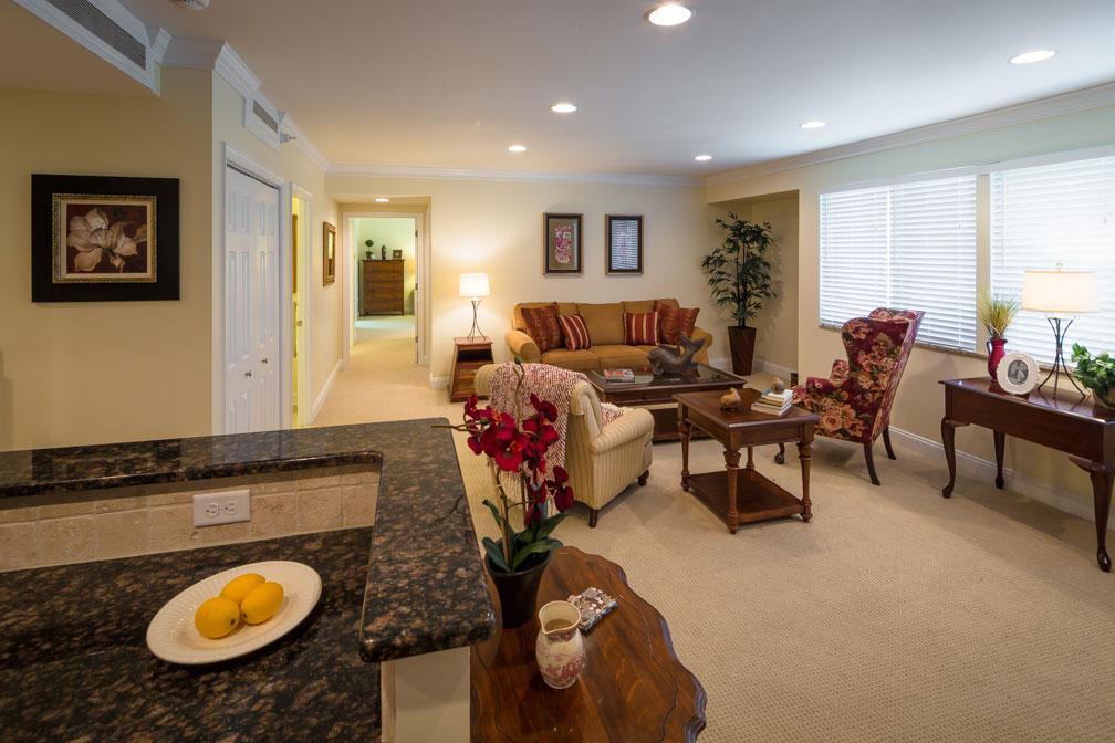 Living Room area at Lakewood Senior Apartment in Richmond, VA.