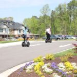 Lakewood Independent Living residents riding on Segway courtesy of RVA on Wheels.