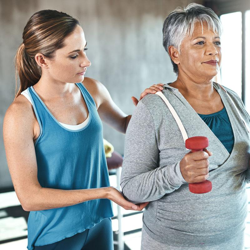 Short term rehab for senior woman