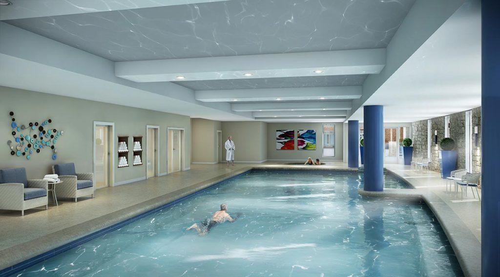Community Center Pool at Lakewood Retirement Community