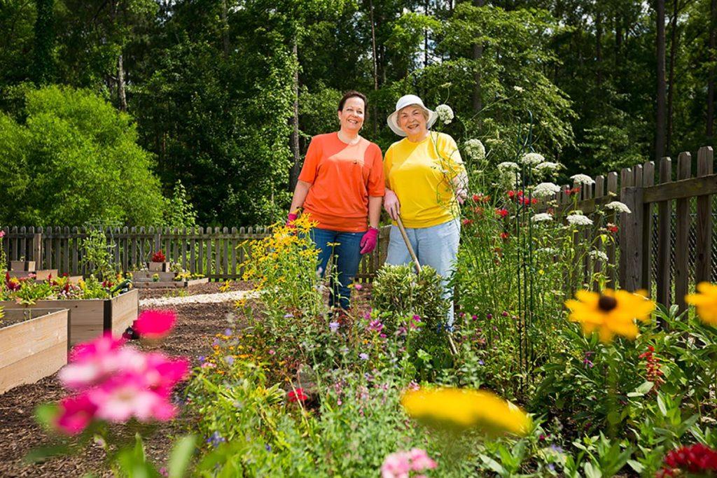 Gardening at Lakewood Senior Living