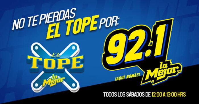 EL TOPE POR LA MEJOR CORDOBA 92.1 FM AQUI NOMAS