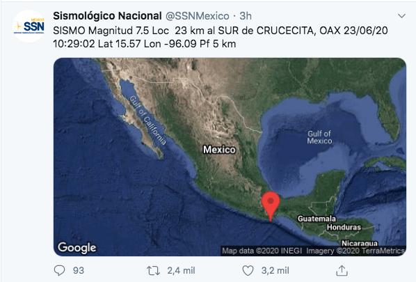 SISMO 7.5 MÉXICO