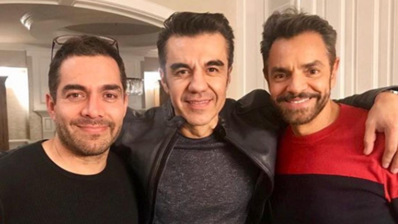 Omar Chaparro, Adrián Uribe y Eugenio Derbez,
