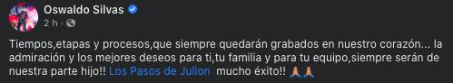 Julión comparte video de cuando estaba en la MS y Walo le contesta