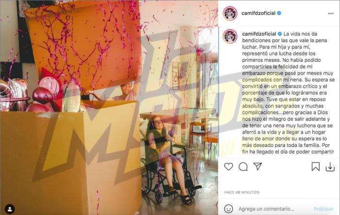 Embarazo de Camila Fernández