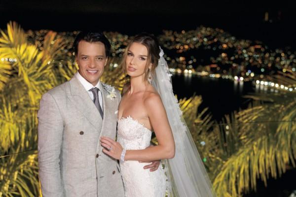 Rodrigo Herrera y su esposa