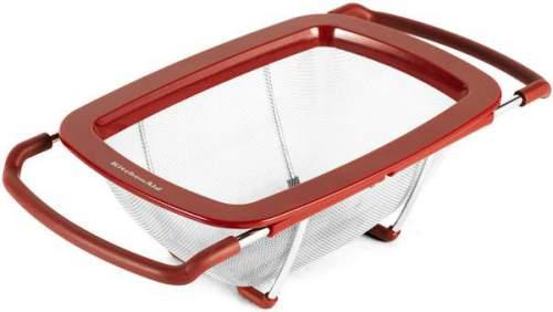 Kitchenaid Scolapasta In Acciaio Inox E Plastica Rossa