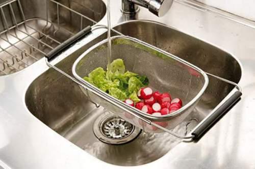 Scolapasta Housewares Con Manici Allungabili Per Lavandino 3
