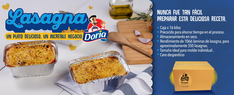 Lasagna Doria 16kg - Junio 2021 (DORIA)