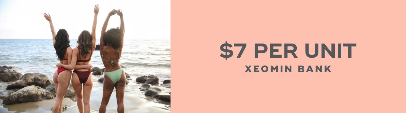 $7 per unit - Xeomin Bank