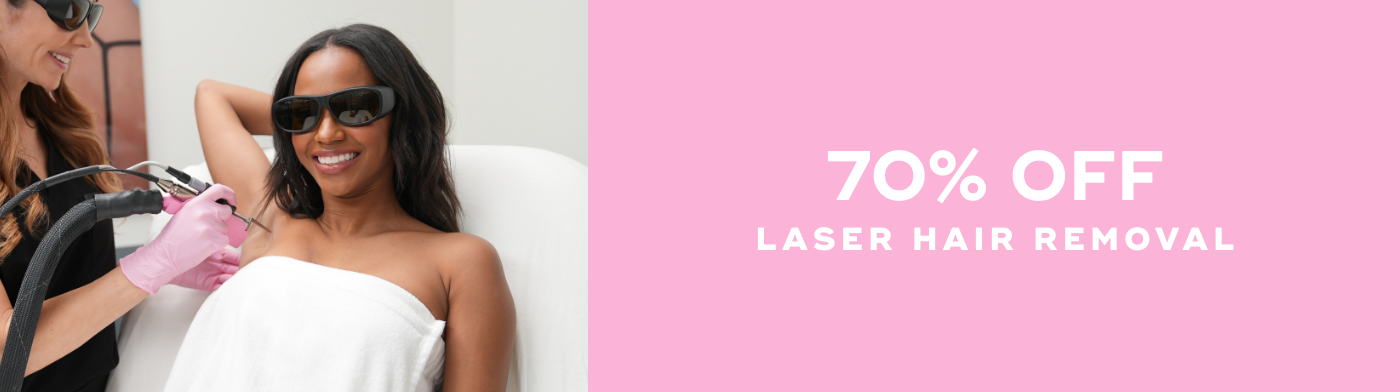 70% OFF Laser Hair Removal