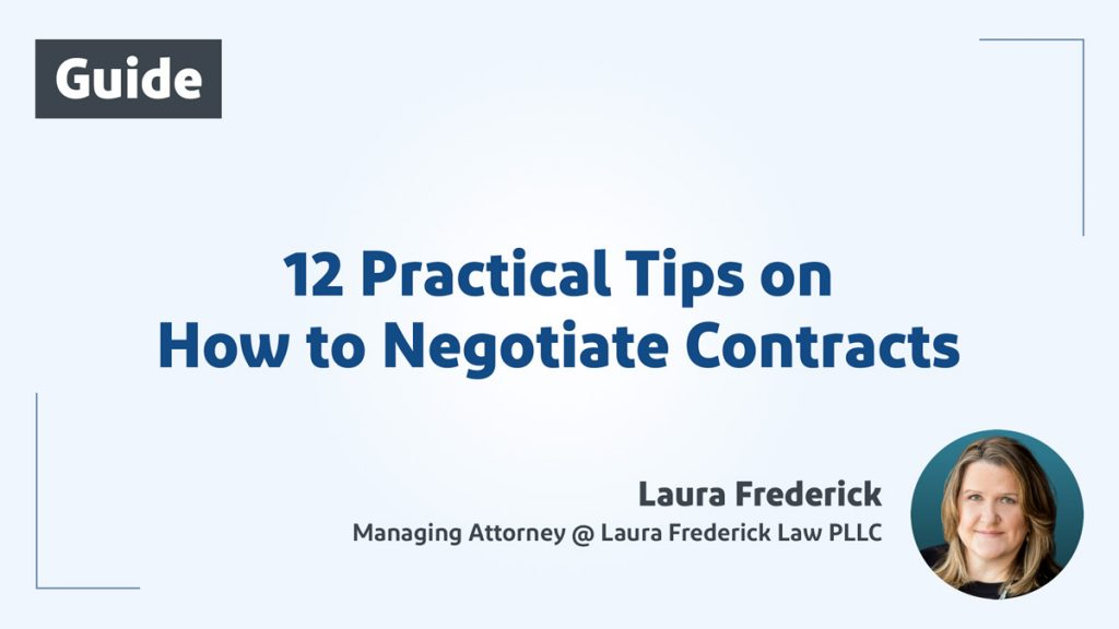 12 Practical Tips on How to Negotiate Contracts