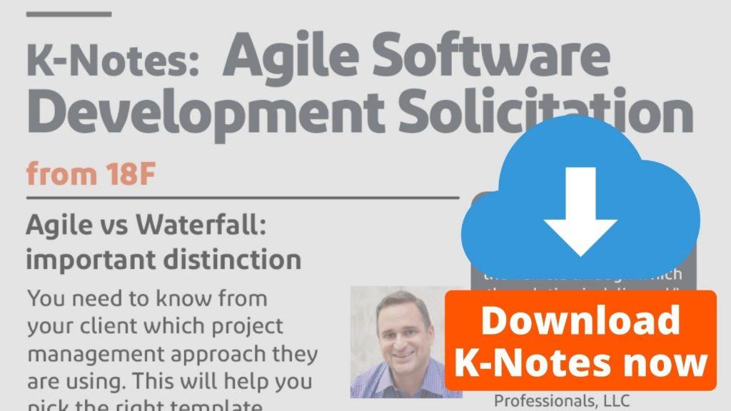 K-notes: Agile Software Development Solicitation Download Now