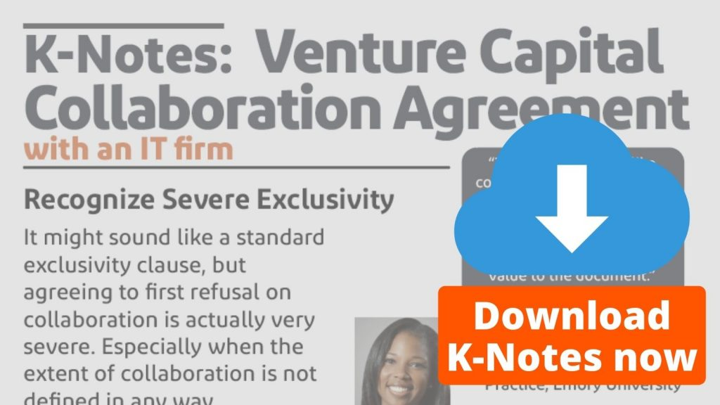 K-Notes: Venture Capital Collaboration Agreement Download Now