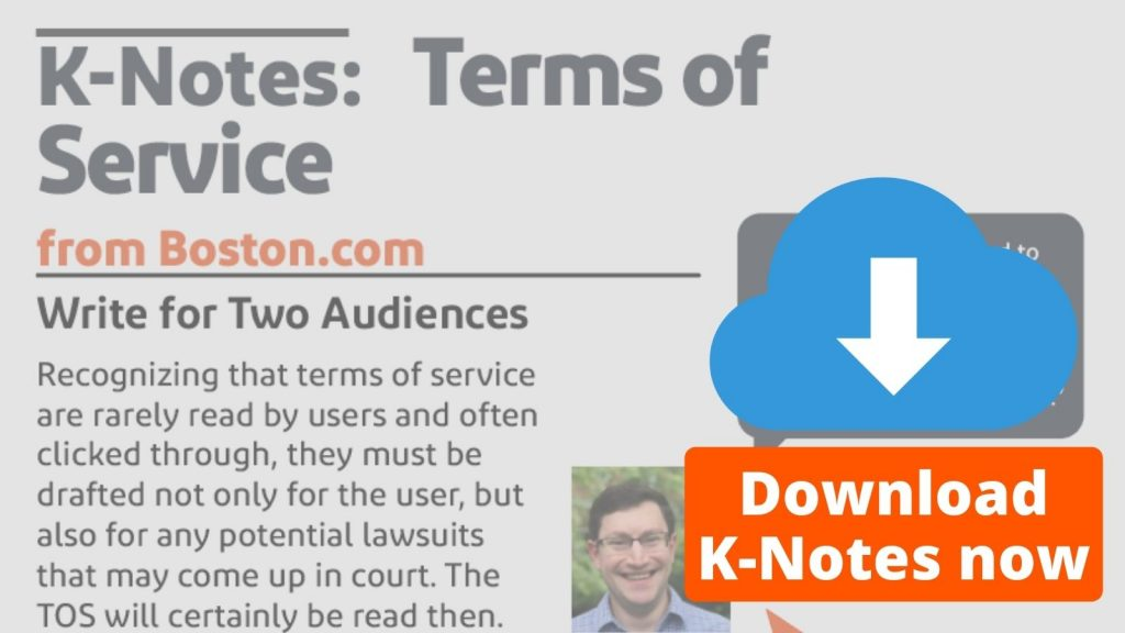 K-Notes: Terms of Service from Boston.com Download Now