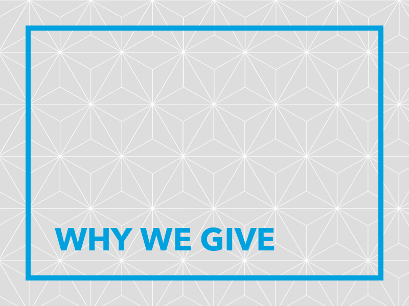 Why We Give Poster