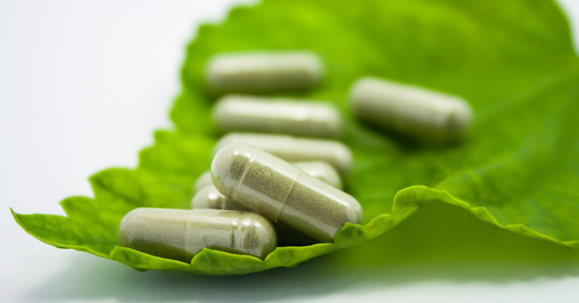 Supplements on a leaf
