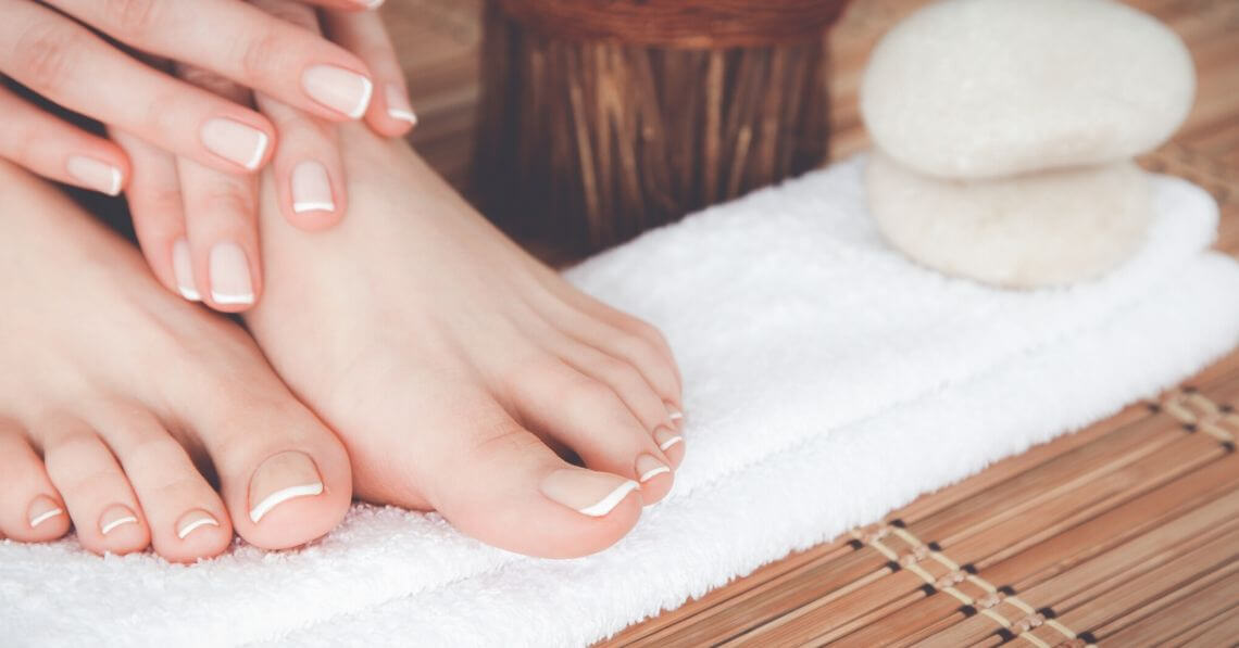 Woman enjoying pampering me-time