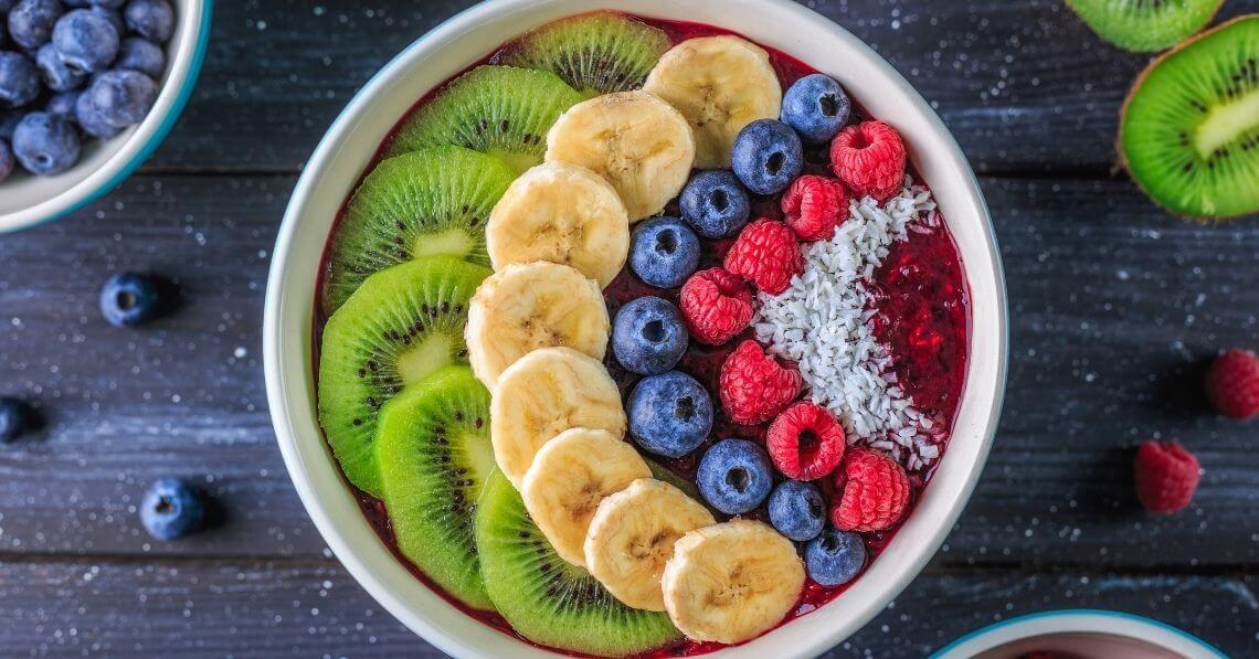 Acai fruit bowl with collagen
