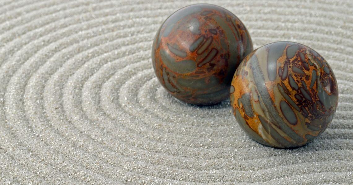 Stress balls on sand