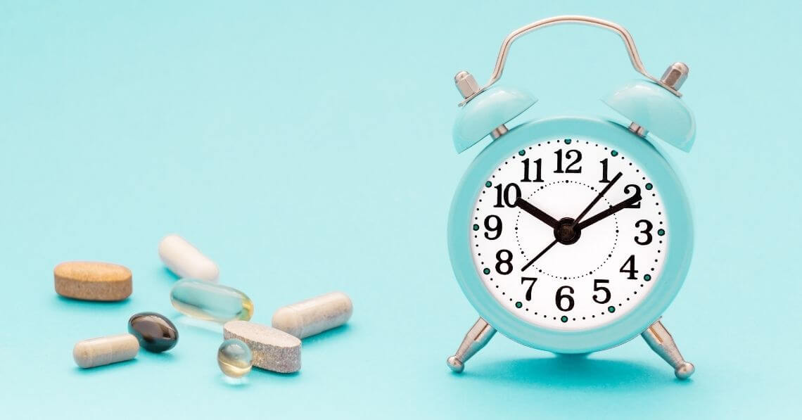 Alarm clock with nutritional supplements