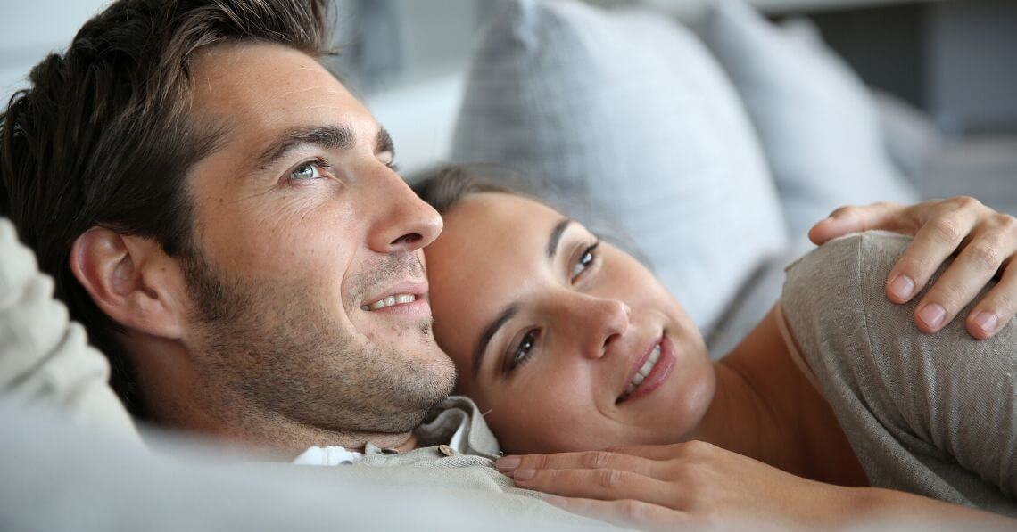 A millennial couple contemplating their future