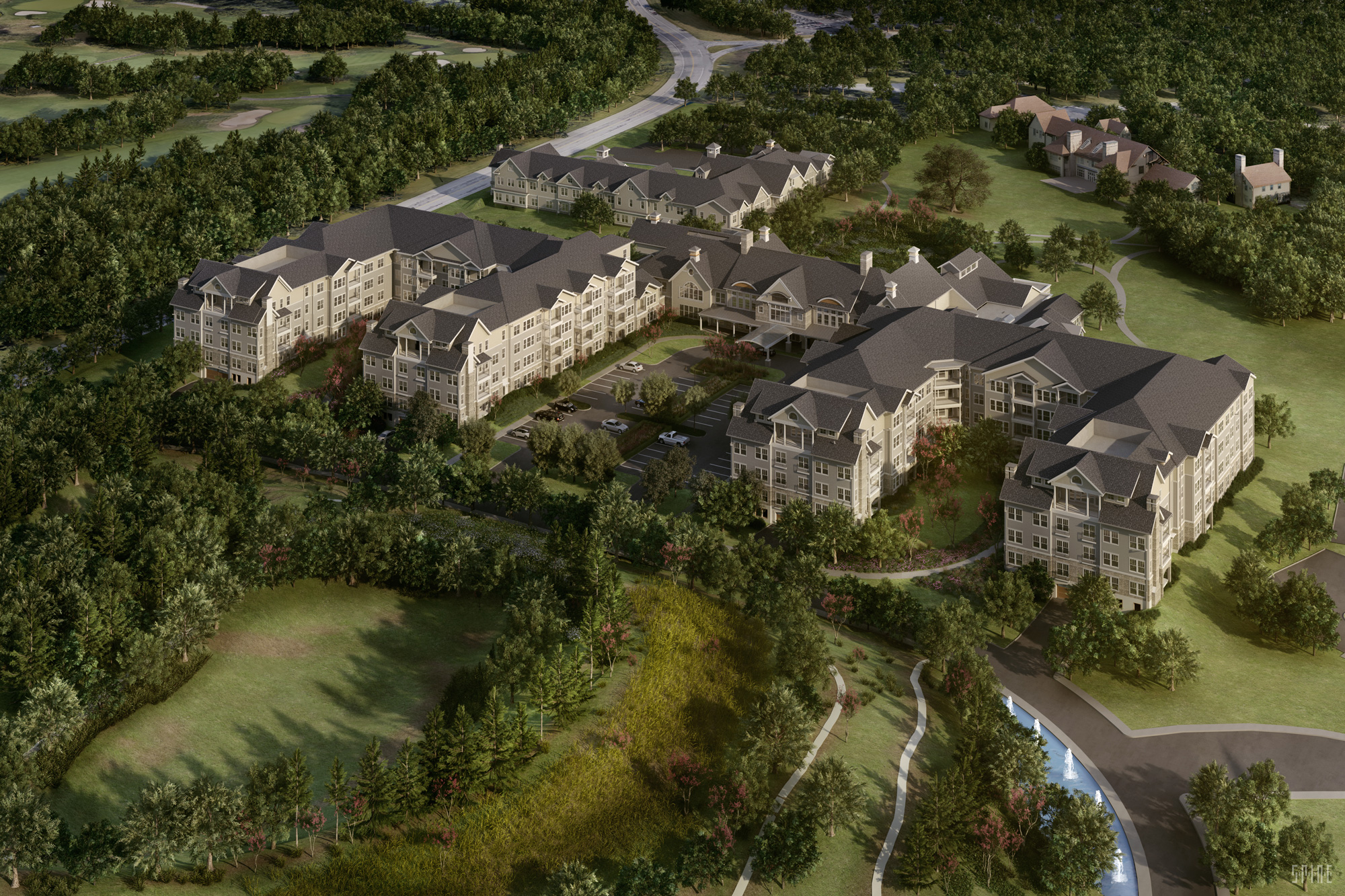 Rendering of Broadview Senior Living, a retirement community by LCS Development