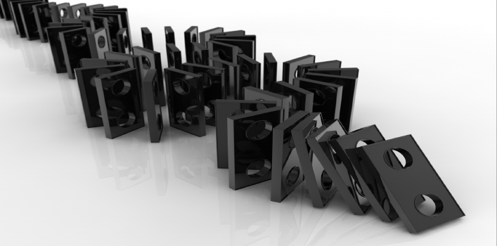 Domino Effect of Cyber Attacks