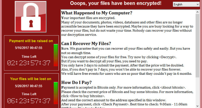 Another big ransom hack: WannaCry