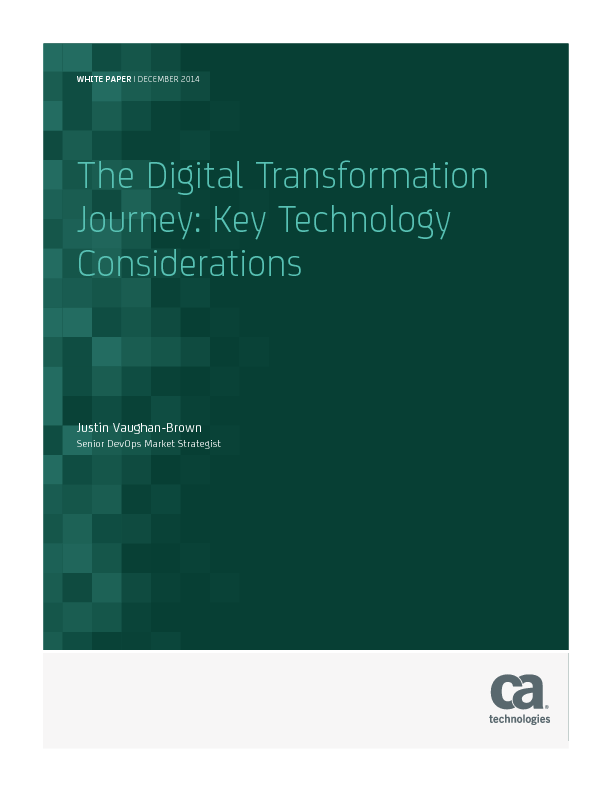 Thumb original the digital transformation journey key technology considerations