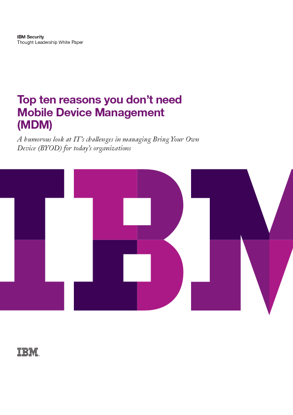 Thumb original top ten reasons you don t need  mobile device management   mdm
